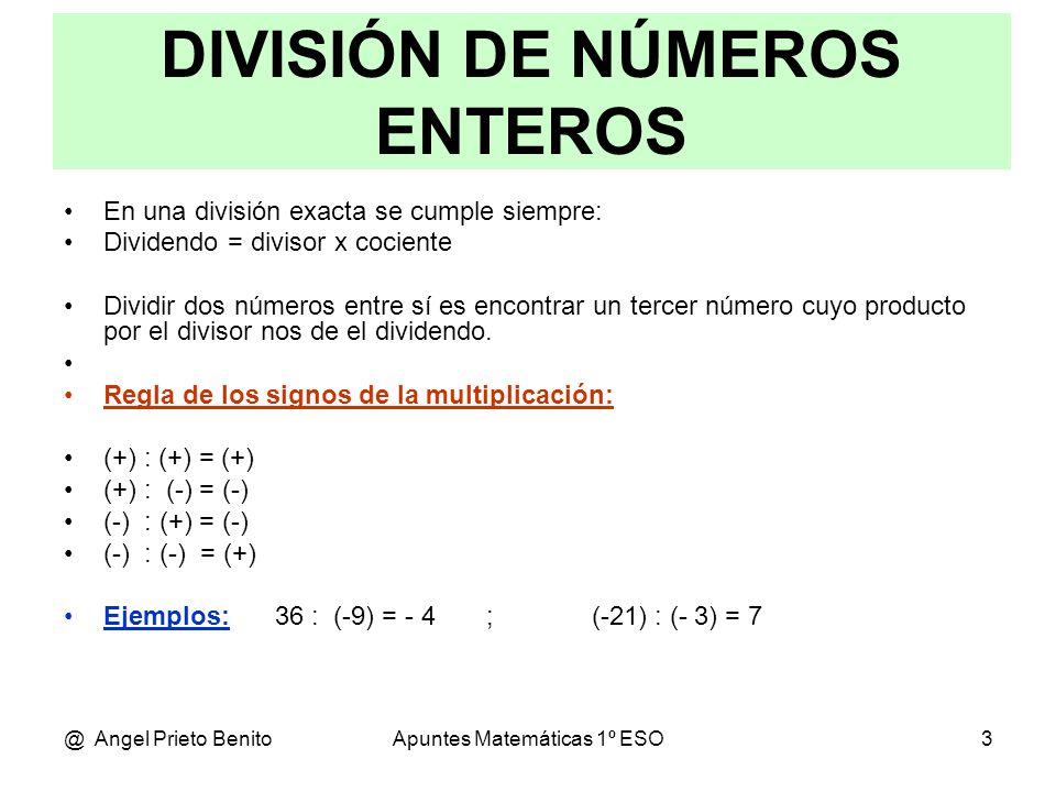 División Exacta De Números Enteros 7 Tomi Digital